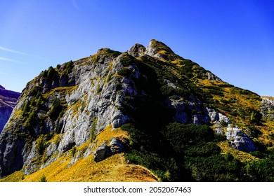 Romania, Bucegi Mountains, Sharp Ridge of the Morar