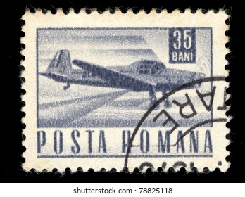 ROMANIA - CIRCA 1971: A stamp printed in Romania showing airplane, circa 1971
