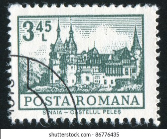ROMANIA - CIRCA 1972: stamp printed by Romania, shows Sinaia Castle, circa 1972
