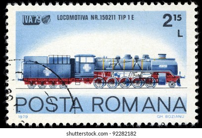 ROMANIA - CIRCA 1972: A stamp printed in Romania shows locomotive, circa 1972