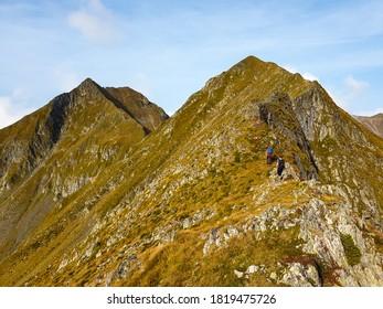 Romania, Fagaras Mountains, Buda and Small Arpasu Peaks