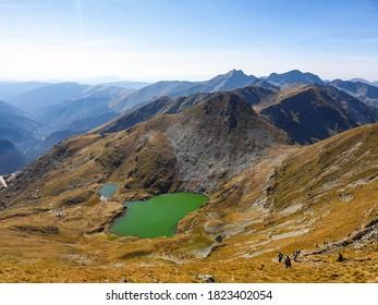 Romania, Fagaras Mountains, Capra Lake