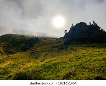 Romania, Fagaras Mountains, Piscul Negru Ridge