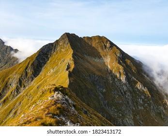 Romania, Fagaras Mountains, Small Arpasu Peak