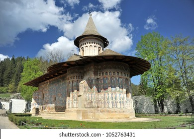 Romania. Frescoes of the Monastery of the Voronets