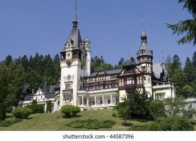 Romania King Carol Palace called Peles from Sinaia