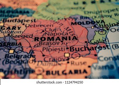 Romania map background