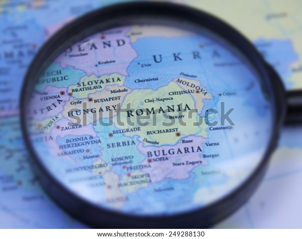Rumänien-Karte, Nahaufnahme