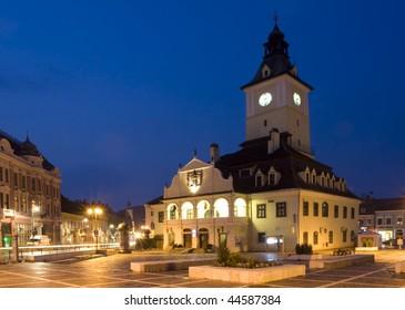 Romania old city from Transylvania called Brasov
