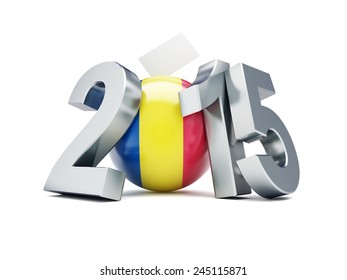 Romanian constitutional referendum 2015 on a white background