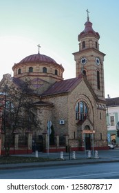 Romanian Orthodox church Holy Salvation, Serbia, Vojvodina, Vrsac town, December 9, 2018