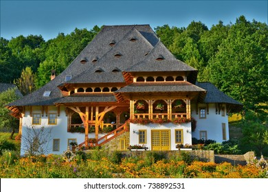 Romanian traditional old wooden house