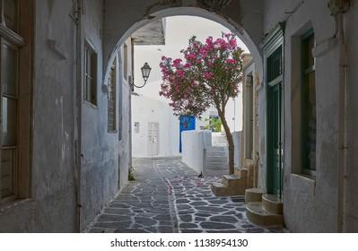 Romantic alleys at Paroikia village - Paros