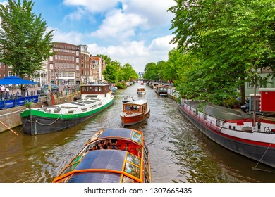 Romantic Amsterdam with canal