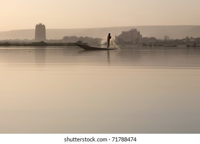 Romantic atmosphere at river Niger in Bamako - Mali.