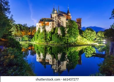 Romantic and beautiful Bojnice castle,UNESCO heritage (1103),Slovakia
