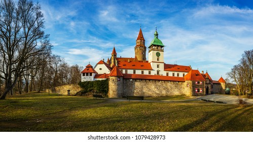 Romantic Bouzov Castle in Czech Republic