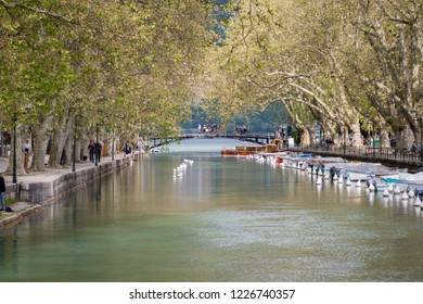 Romantic canal, Annecy, France