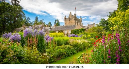 Romantic Cawdor Castle with gardens near Inverness, Scotland