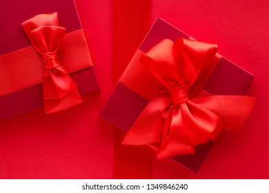 Romantic celebration, lifestyle and birthday present concept - Luxury holiday gifts on red