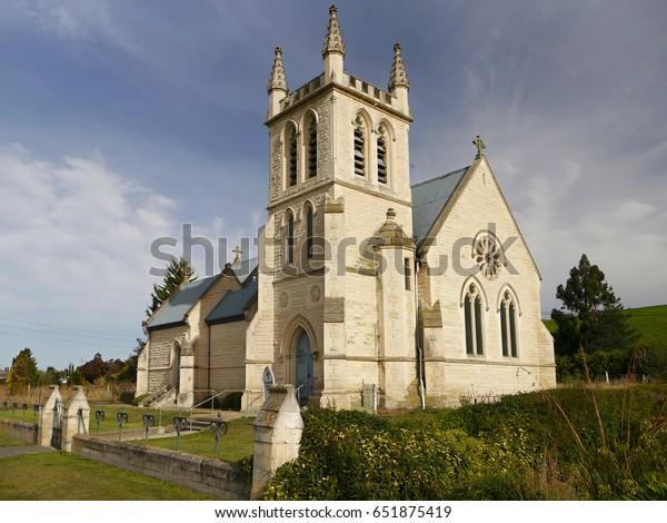 Romantic Church New Zealand Stock Photo (Edit Now) 651875419