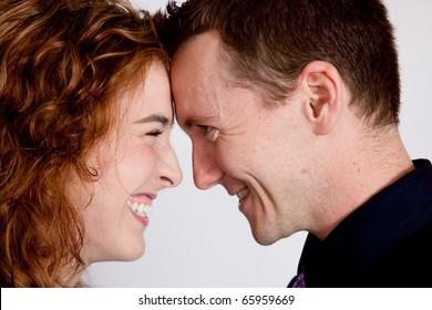 Romantic couple, happy together