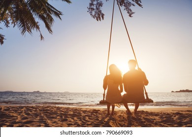 482aed5fce3f Loving Couple Sitting Swing Images, Stock Photos & Vectors ...