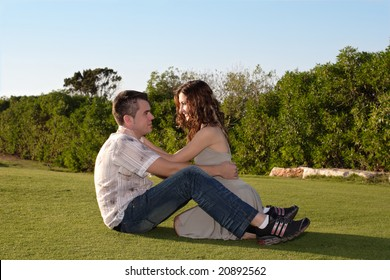 Romantic couple at nature