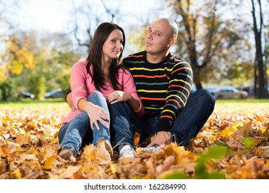 Romantic Couple In A Park