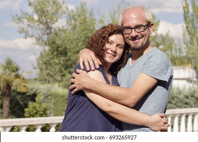 Romantic couple with positive attitude and lovers