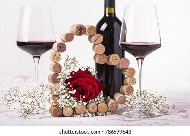romantic decoration for Valentine's day