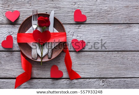 Romantic Dinner Concept Valentine Day Proposal Stock Photo Edit Now