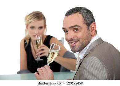 romantic dinner at restaurant