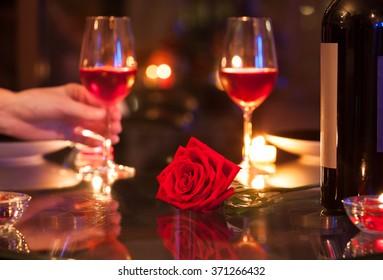 Romantic dinning.
