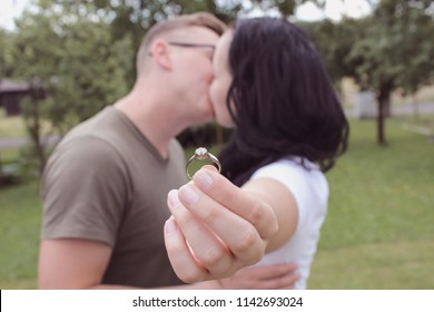 Romantic Engagement Photo