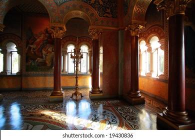 Romantic germany castle interior