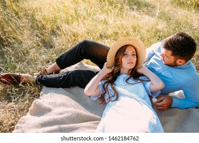 Romantic getaway picnic for two toung lovers