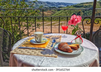 romantic italian breakfast