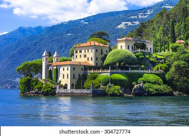 romantic Lago di Como - Villa del Balbinello. Italy