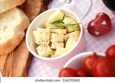 Romantic light meal
