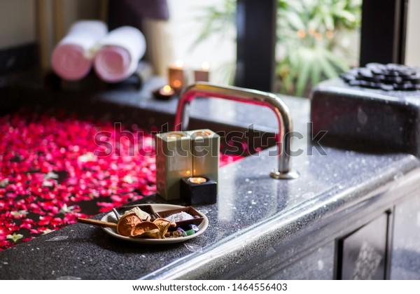 Romantic Luxury Bathroom Idea Couple Black Stock Photo Edit Now 1464556403