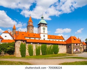Romantic medieval castle Bouzov in Czech Republic.