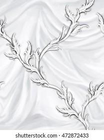 Romantic pattern on grey pleats