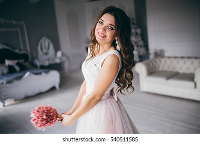 4197a36fc Portrait Beautiful Young Woman Marsala Tulle Stock Photo (Edit Now ...