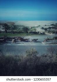 Romantic sea landacape photo, Amazing beach around Paola , Cosenza