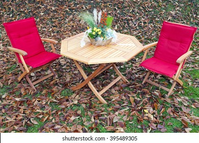 Romantic sitting in autumn