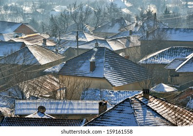 Romantic Snowy vilage from Macedonia