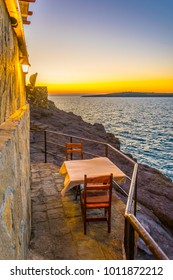 Romantic spot for a sunset dinner in sozopol, Bulgaria.