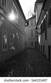 Romantic streets in old Prague
