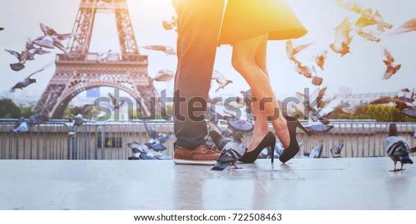 romantic travel background banner, honeymoon in Paris